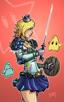 Warrior Princess Rosalina by EdMoffatt