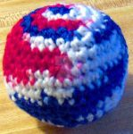 Stars and Stripes Dog Ball by VeronicaIsabel
