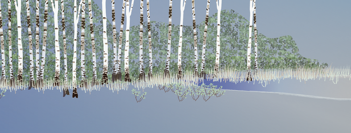 Building a forest: background 3 by Starsong-Studio