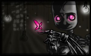 emobot + butterfly by cephalopode