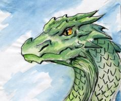 Dragon head green by TicChallis
