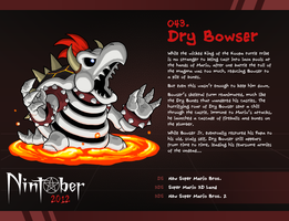 Nintober 043. Dry Bowser by fryguy64