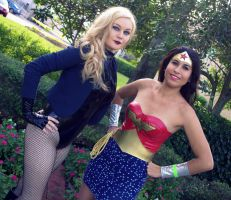 Black Canary and Wonder Woman! by Methvell
