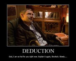 Deduction Motivational Poster by shallowgravy