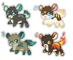 Leaping adopts - auction {closed} by Ivon-Cheetah