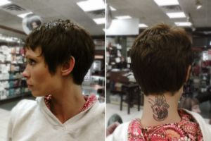 Short punky hair cut by hellohappycrafts