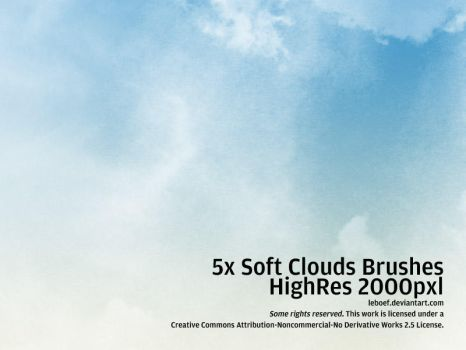 Cloud Brushes HiRes Nr.4 of 5 by leboef