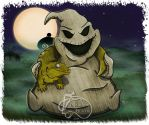 Oogie boogie with Pet Leachie by NadilynBeato