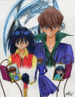 The Kaiba Brothers by QueenMantis