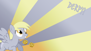 Derpy Hooves Loves Muffins Wallpaper by BlueDragonHans