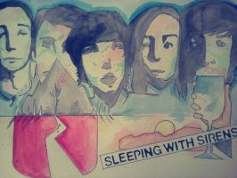 Sleeping with Sirens- fan art by stephasaur