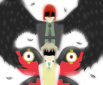 The Crow And The Butterfly (Lineless) by Screwed-In-The-Head