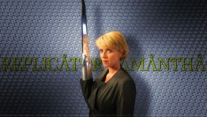 Amanda Tapping Replicator Samantha by Dave-Daring