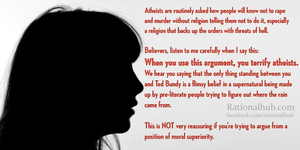 On theists who question atheist morality... by rationalhub
