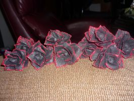 Crepe paper roses by Starleaf-Creations
