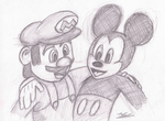 Icons Meet - Mario and Mickey by Deluxe0111