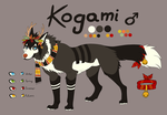 Kogami Reference Sheet by Hainekami