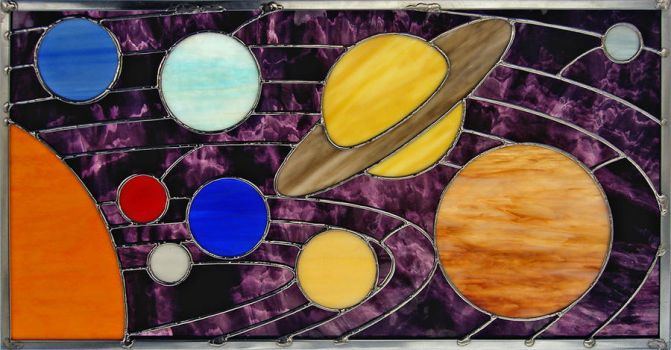 Stained Glass Solar System by bigblued