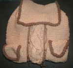 Knit Backpack WIP by Qtfiddler
