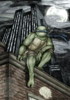 TMNT: Leo Color by dymira128