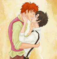 HP Fred x Nox Prompt 2: Kiss by Weasley-Detectives