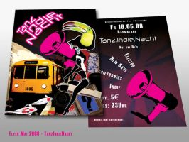 Flyer - Tanz Indie Nacht by B3Ns