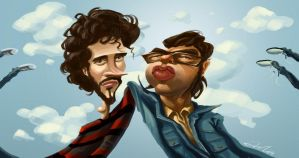 Flight. Of the Conchords by AndrewMok