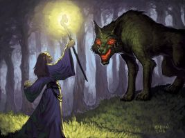 Wolf face-off by mc-the-lane