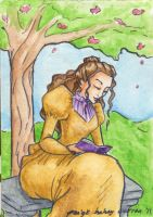 Victorian Reader ACEO by paigehwarren