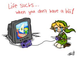 Life Sucks--No Wii by cuccoattackforce