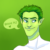 Yo' green guy by Raiilynezz