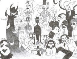 Creepypasta Family Portrait by shadowfan36