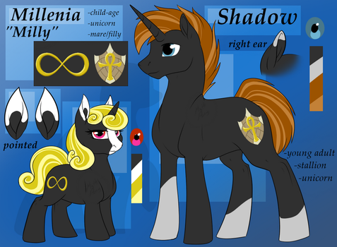 Shadow and Milly - ref by MythPony