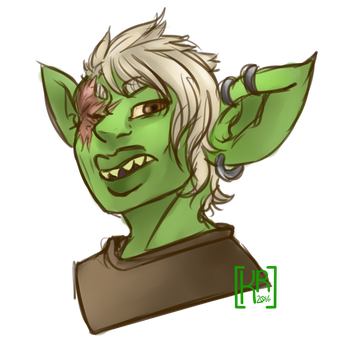 COMMISSION - Goblin by KrossArt