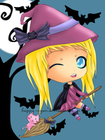 Noelle the little Witch by Happy-Nyan