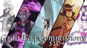 Grab-bag Commissions $10+ (CLOSED) by Jaizure