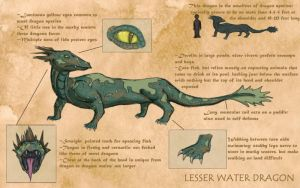 Concept:  Lesser Water Dragon by kcimaginary