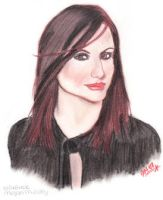Megan Mullally by JazIllustrations