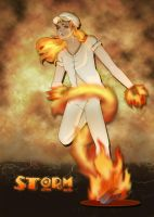 Human Rapidash: Storm by Akissi