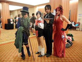 Two Ciel's, One Sebastian and One Grell by Catchmewithyourlips