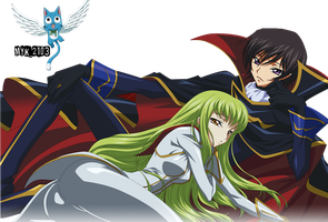 Lelouch Lamperouge and CC CodeGeass by Myk-2103