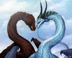 Dragon Love by JoJoesArt