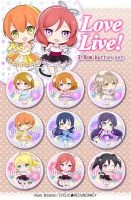 Love Live! ~show time~ button set by Ninamo-chan