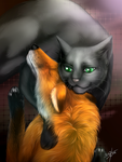 Warriors: Hollyleaf and the little fox by Marshcold