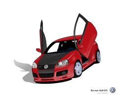 Golf GTI Wallpaper by Flame-X