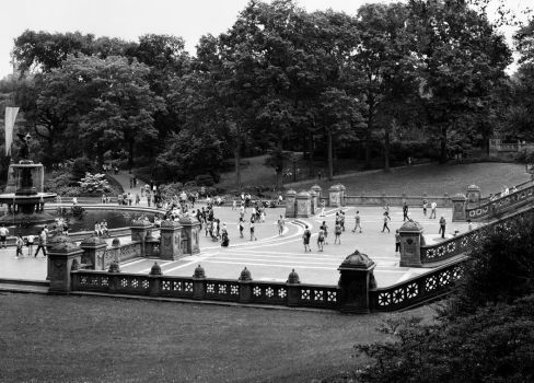Bethesda Fountain and Plaza (analogue) by maxlake2