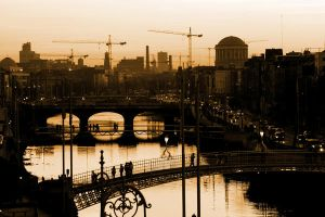 River Liffey, Dublin Sunset by bicyclebandit
