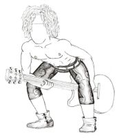Guitar Thorugh Legs by HarlandGirl