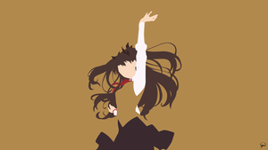 Rin Tohsaka V2 (Fate/Stay Night) Minimalism by greenmapple17