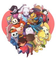 Undertale by CubeWatermelon